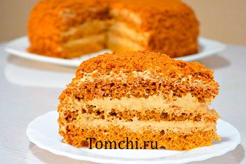 Торт медовик с фотографией