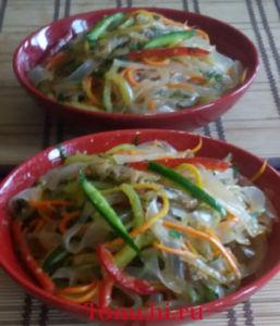 Fenchuza tasmaligi (ashlyanfu) salati.